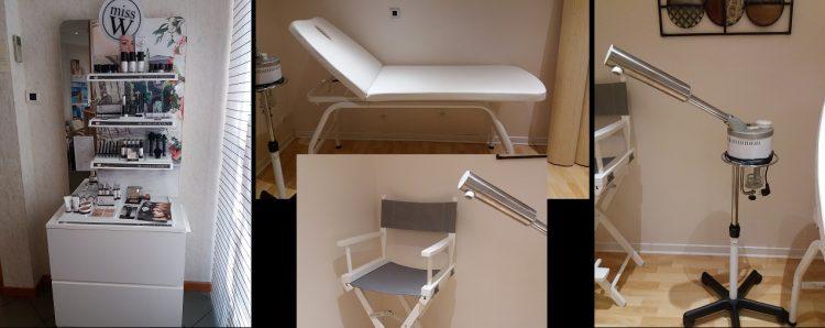 a vendre stock de maquillage   meuble   chaise de